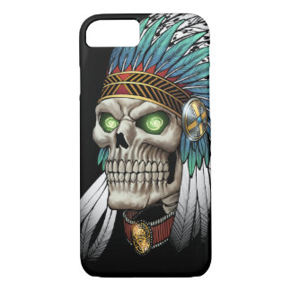 Native American Indian Tribal Gothic Skull iPhone 7 Case