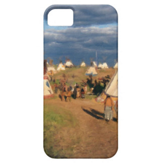 Native American Indian Village iPhone 5 Cover