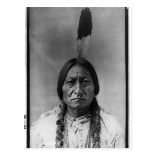 Native American Indian Vintage Portrait Post Card