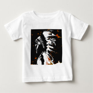 Native American Indian within Flames Baby T-Shirt