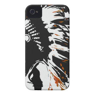 Native American Indian within Flames iPhone 4 Cases