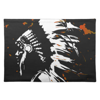 Native American Indian within Flames Placemat