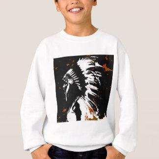 Native American Indian within Flames Sweatshirt