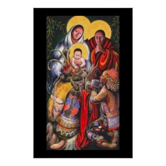 Native American Jesus & Saints Poster