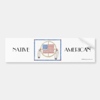 NATIVE AMERICAN Medicine Wheel Bumper Sticker