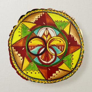 Native American Medicine Wheel Mandala Pillow
