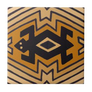 Native American Mimbres Bear Ceramic Tile