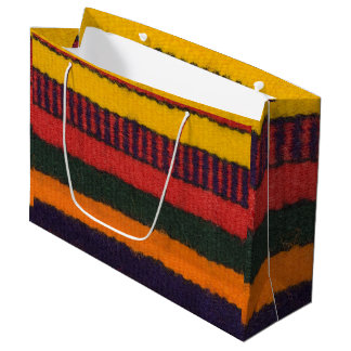Native American Navajo Indian rainbow color Large Gift Bag
