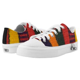 Native American Navajo Indian rainbow color Low Tops