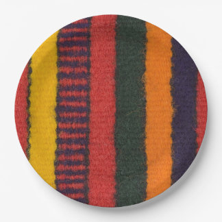 Native American Navajo Indian rainbow color Paper Plate