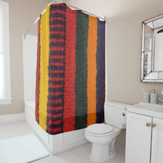 Native American Navajo Indian rainbow color Shower Curtain