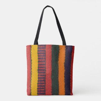 Native American Navajo Indian rainbow color Tote Bag