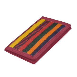 Native American Navajo Indian rainbow color Trifold Wallets
