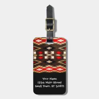 Native American Navajo Tribal Design Print Luggage Tag