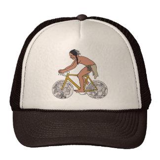 Native American On Bike W/ Buffalo Head Coin Wheel Cap