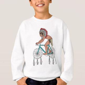 Native American On Bike W/ Dream Catcher Wheels Sweatshirt