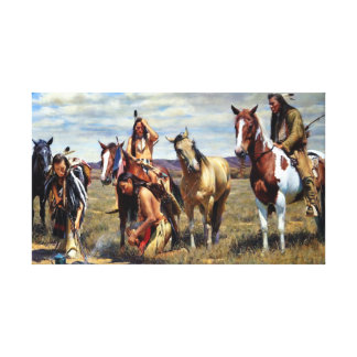 Native American painting Canvas Print