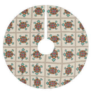 Native american pattern brushed polyester tree skirt