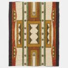 Native American Pattern: Cheyenne Design 1860's Fleece Blanket