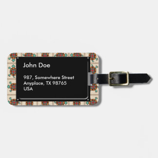 Native american pattern luggage tag