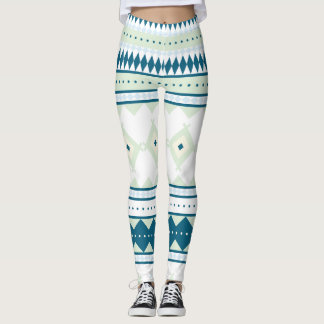 Native American Pattern: Peacock Sky Leggings