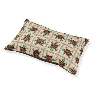 Native american pattern pet bed