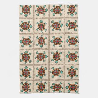 Native american pattern tea towel