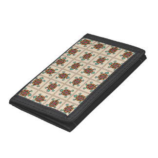 Native american pattern trifold wallets