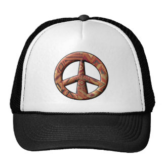 Native American Peace Sign Mesh Hat
