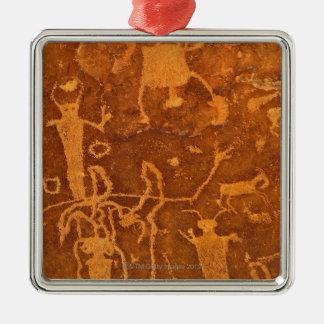 Native American petroglyphs, Rochester Panel, Metal Ornament