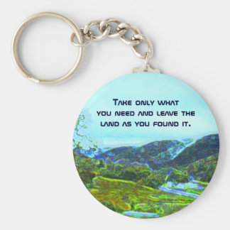 native american philosophy basic round button key ring