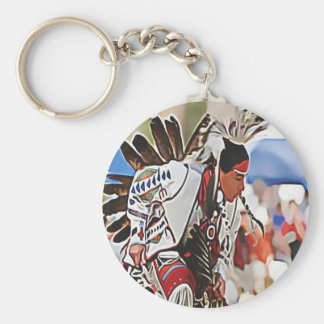 Native American Phoenix Dancer Key Ring