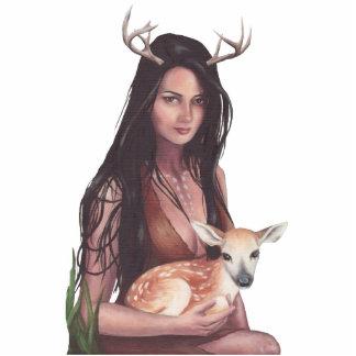 Native American Photo Sculpture Baby Deer