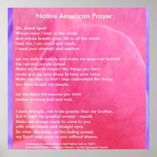 Native American Prayer Print