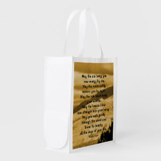 Native American prayer Reusable Grocery Bag
