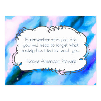 Native American Proverb Inspirational Wise Saying Postcard