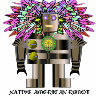 Native American Robot Sculpture Acrylic Cut Out