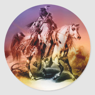 Native American Round Sticker