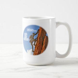 Native American Scaling a Peak Coffee Mug