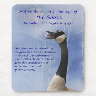 Native American Sign of the Goose (capricorn) Mouse Pad