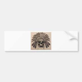 Native American Skull Chief (indian) Bumper Sticker