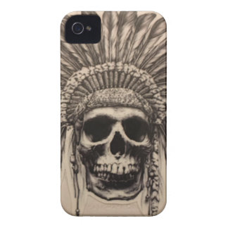 Native American Skull Chief (indian) Case-Mate iPhone 4 Case