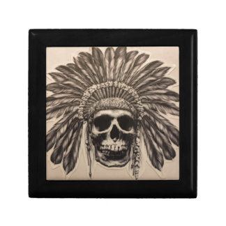 Native American Skull Chief (indian) Gift Box