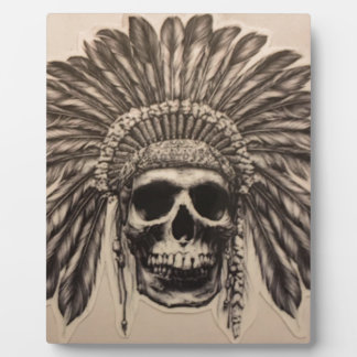 Native American Skull Chief (indian) Plaque