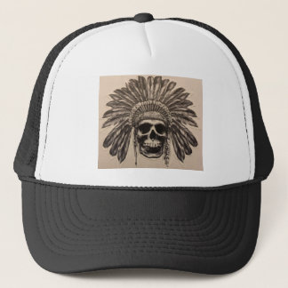 Native American Skull Chief (indian) Trucker Hat