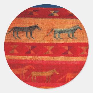 Native American Style Classic Round Sticker