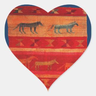 Native American Style Heart Sticker