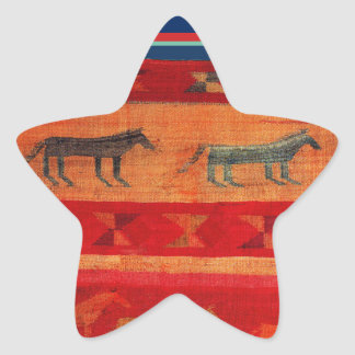 Native American Style Star Sticker