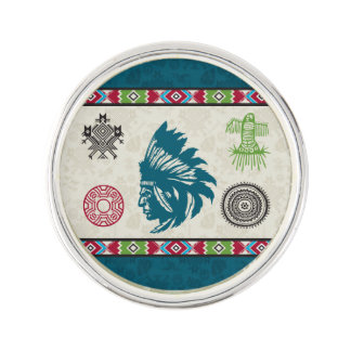Native American Symbols and Wisdom - Chief Lapel Pin
