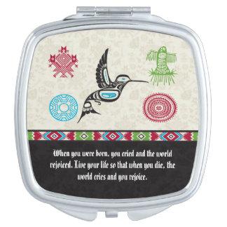 Native American Symbols and Wisdom - Hummingbird Makeup Mirrors